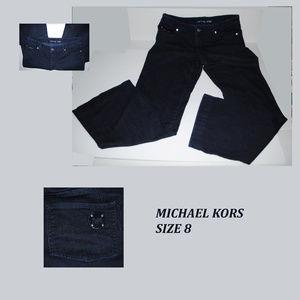 MICHAEL KORS Dark Wash Jeans w/ Metal Logos